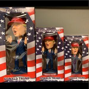 Donald Trump bobble head 3 pc set original box